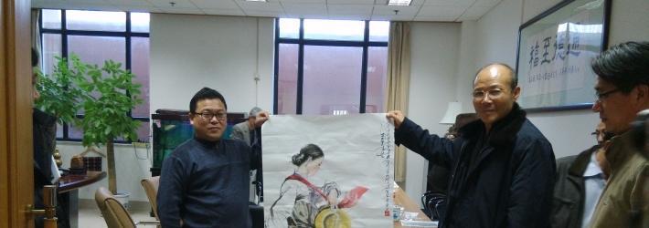 朝鲜美术家同盟中央委员会委员长金圣民携朝鲜艺术家到访东方文化艺术院